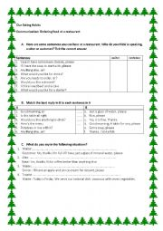 English Worksheet: ordering food worksheet