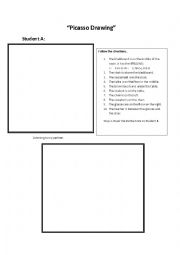 English Worksheet: Picasso Drawing - Preposition