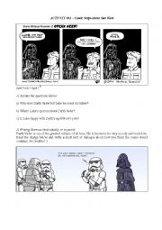 Star Wars Worksheet - Comic Strips