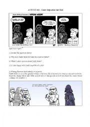 English Worksheet: Star Wars Worksheet - Comic Strips