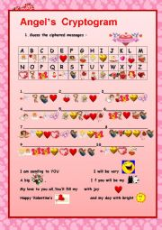 english worksheets valentine s day cryptogram. Black Bedroom Furniture Sets. Home Design Ideas