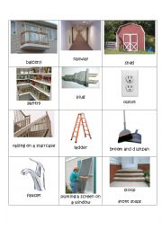 English Worksheet: House flashcards level 2 difficulty