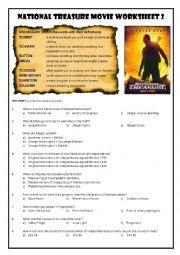 National Treasure Movie Worksheet 2