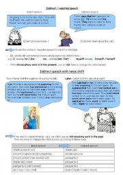 English Worksheet: Introduction indirect/reported speech teacher�s version