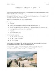 English Worksheet: A class trip to....