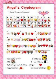 English Worksheet: VALENTINE´S DAY CRYPTOGRAM