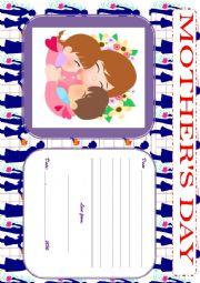 English Worksheet: MOTHER�S DAY - POSTCARD
