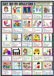 English Worksheet: Say no to bullying with practice of should shouldn´t