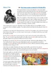 english worksheets marco polo biography. Black Bedroom Furniture Sets. Home Design Ideas