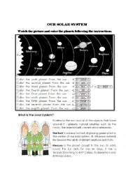 English Worksheet: OUR SOLAR SYSTEM