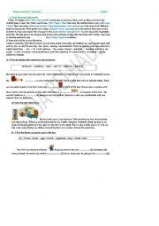 English Worksheet: REVISION WORKSHEET module 3 grade 7 Tunisian programme
