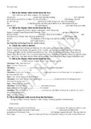 English Worksheet: REVISION WORKSHEET  1 module 3 grade 8 Tunisian programme