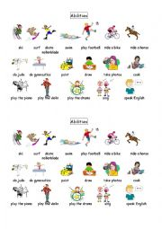 english worksheets vocabulary abilities sports and hobbies. Black Bedroom Furniture Sets. Home Design Ideas
