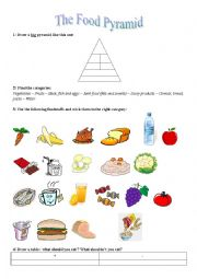 English Worksheet: The food pyramid