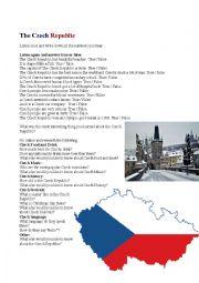 English Worksheet: Czech Republic Listening exercise