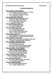 English Worksheet: Compound Adjectives Forms and exercises