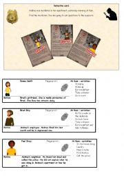 English Worksheet: Detective - conversation card Part 4