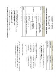 English Worksheet: sequence of tenses