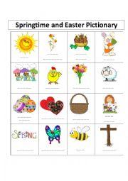 English Worksheet: Easter Pictionary #2