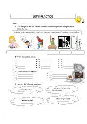 English Worksheet: english practice