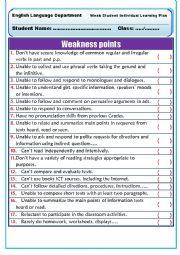 English worksheet: Remedial Plan