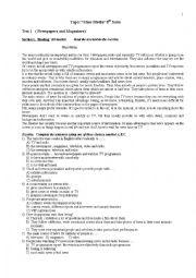 English Worksheet: Mass Media