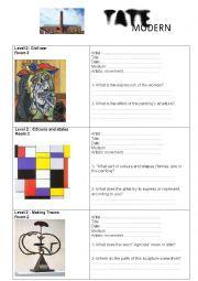 English Worksheet: The Tate Modern worksheet