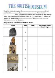 English Worksheet: The British Museum