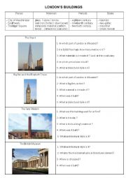 english worksheets london s buildings architecture. Black Bedroom Furniture Sets. Home Design Ideas