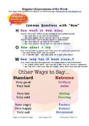 English Worksheet: Common