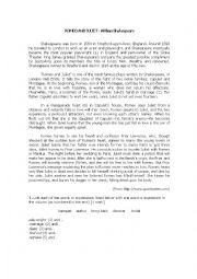 English Worksheet: Romeo and Juliet - William Shakespeare