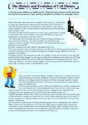 english worksheets history and evolution of cell phones. Black Bedroom Furniture Sets. Home Design Ideas