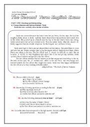 English Worksheet: SHORT STORY CAT RESCUE