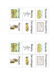 English Worksheet: Ancient Egypt memory part.1