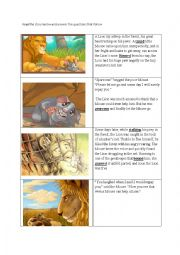 english worksheets reading comprehension aesops the lion and the mouse. Black Bedroom Furniture Sets. Home Design Ideas