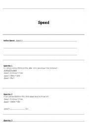 english worksheets calculating speed. Black Bedroom Furniture Sets. Home Design Ideas