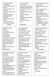 English worksheet: riddles about dead celebrities