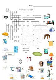around the house crossword