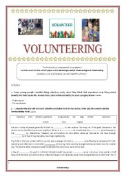 volunteering research paper This article examines the role of corporate executives as volunteers the history and evolution of executive volunteerism is.