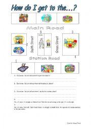 English Worksheet: asking the way