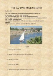 English Worksheet: The land of Ancient Egypt