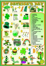 English Worksheet: Saint Patrick´s day: matching activity
