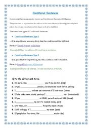 conditional sentences lesson plan pdf