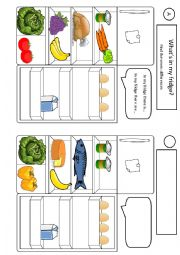 English Worksheet: What�s in my fridge? Find the seven differences
