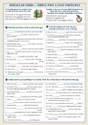 English worksheet: Irregular Verbs - Past Simple & Past Participle