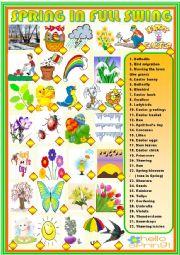 English Worksheet: Spring in full swing: matching