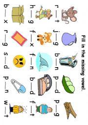 Free cvc test worksheets for kindergarten