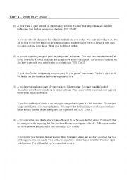 English Worksheet: Pearson Test Of English Level C1 / SPOKEN: Roleplays