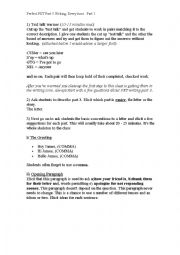 English Worksheet: Perfect PET Part 3 Writing. Full Lesson