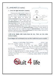 English worksheet: mid term test n) 2